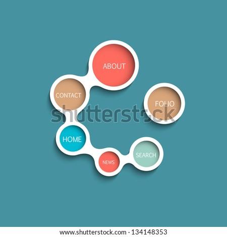 Vector Website Template. Minimalist style design - stock vector