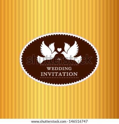 Vector wedding invitation card. - stock vector