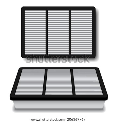 vector white air filter - stock vector