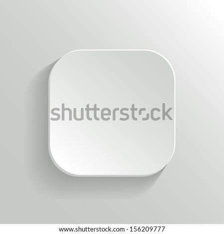 Vector White Blank Button - App Icon Template - stock vector