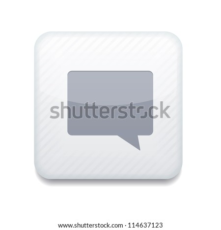Vector white Bubble speech icon. Eps10. Easy to edit - stock vector