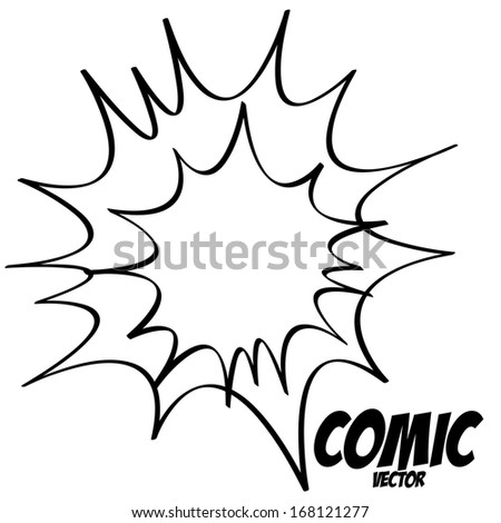 Vector White Comic Effect Element Empty Isolated - stock vector