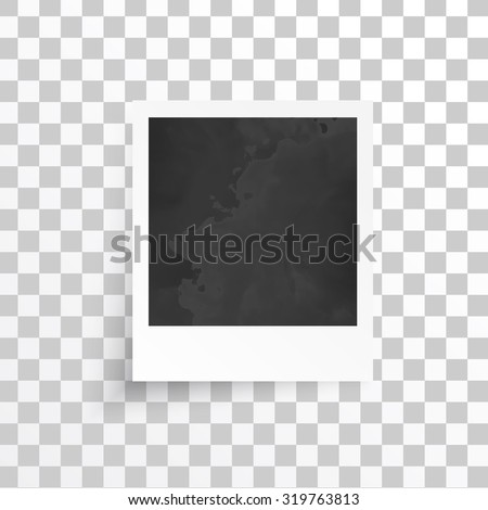 Vector white frames. Picture photo frame and shadow - stock vector