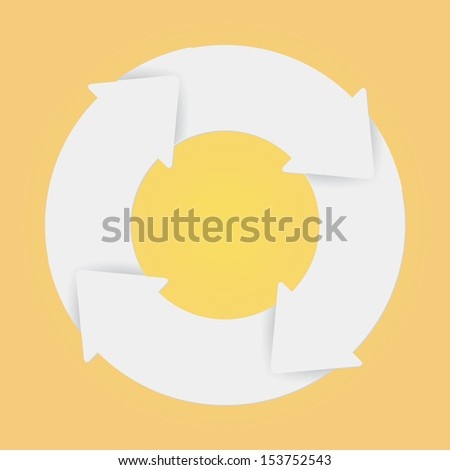 Vector white life cycle diagram. 4 Steps. - stock vector