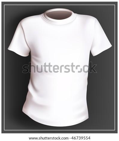 Vector white T-shirt - stock vector