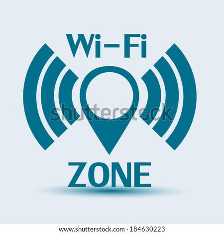 Vector Wi-Fi network icon  - stock vector