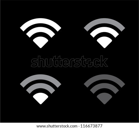 vector WiFi data symbol icons - stock vector
