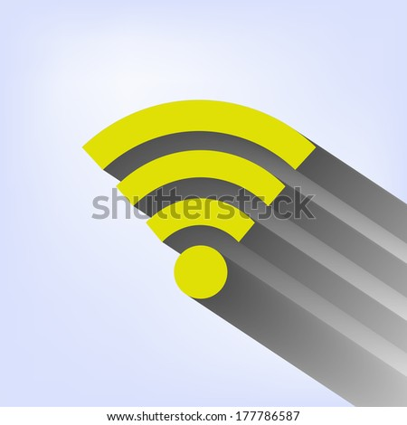 Vector wifi icon - stock vector