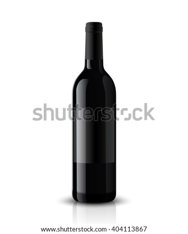 Vector, wine bottle, made in a realistic style. on a white background. It can serve as a layout for future design and Publicity of your product. - stock vector