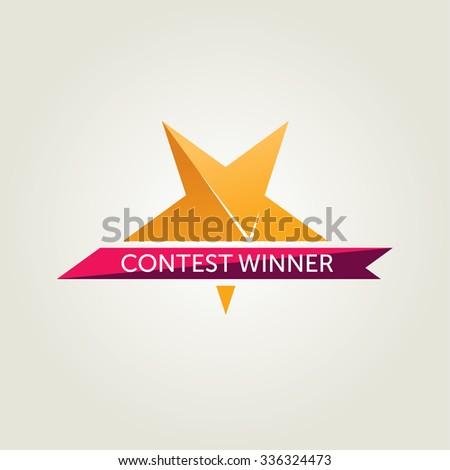 Vector Winner Award Icon - stock vector
