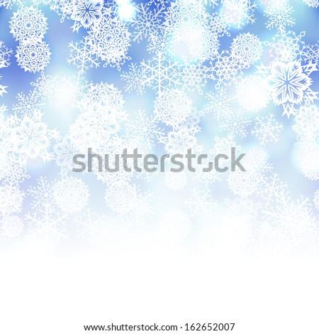 Vector winter background - stock vector