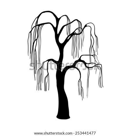 Dead Willow Tree Drawing Dead Leafless Willow Tree