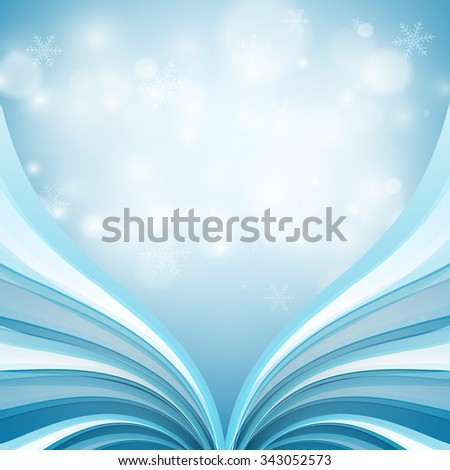 vector winter shining greeting card design. Eps10 - stock vector