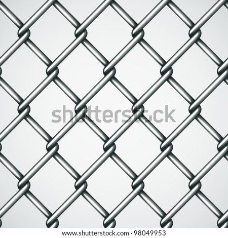 vector wire fence seamless background - stock vector
