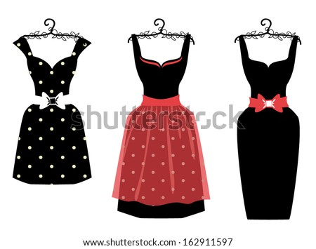 Vector women dress - stock vector
