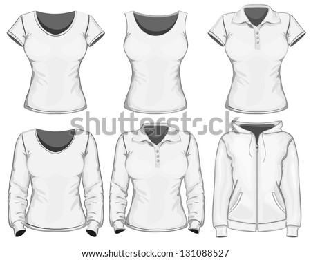 Vector. Women's clothes collection. - stock vector