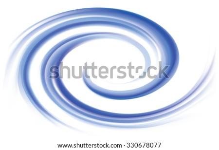 Vector wonderful futuristic soft curvy ultramarine rippled fond with space for text. Beautiful volute surface vivid deep cobalt iris color - stock vector
