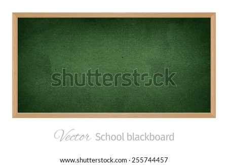 Vector wood black school blackboard. Isolated object.  - stock vector