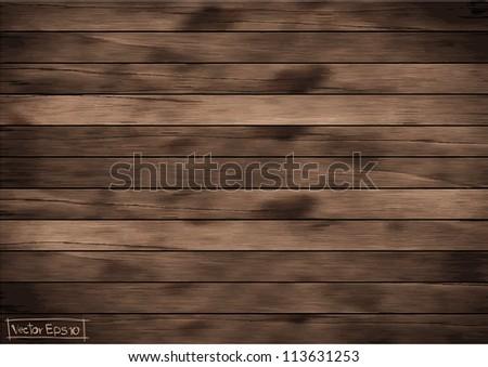 Vector wood plank background - stock vector
