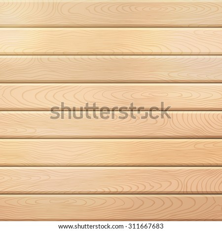 Vector wood plank background. Light square background with horizontal planks. - stock vector