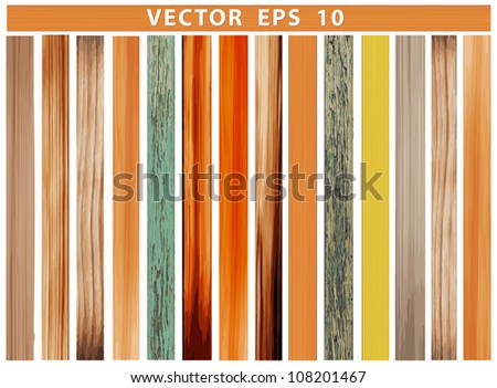 Vector wood plank samples, Perfect Colorful Texture for design work - stock vector