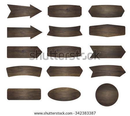 Vector wood signs - stock vector
