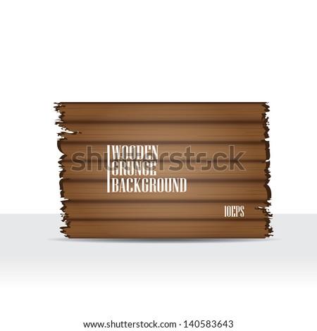 vector wooden background for brochure or business card design. wooden website backdrop. - stock vector