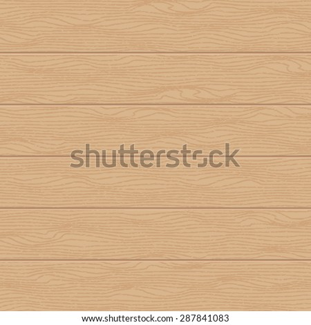 Vector wooden background with realistic texture, light brown color - stock vector