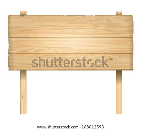 vector wooden sign - stock vector