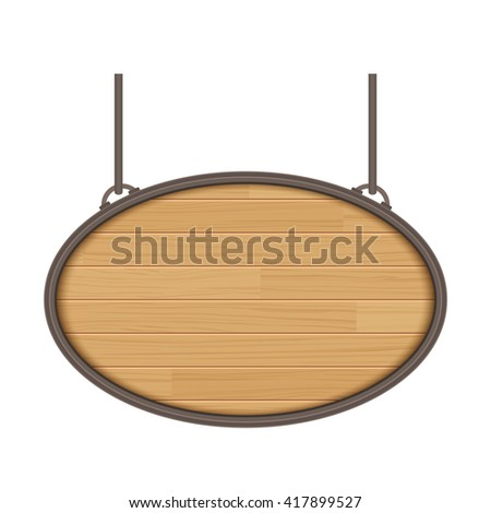 vector wooden sign isolated on white background - stock vector