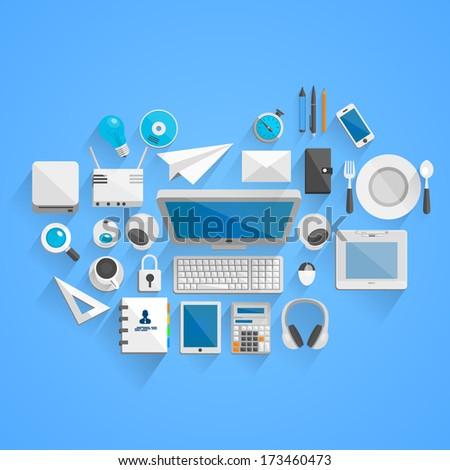 Vector work style - stock vector