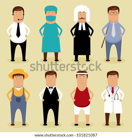 Vector worker set - stock vector