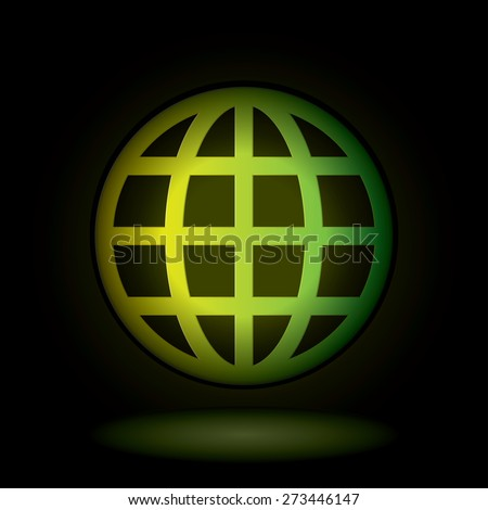Vector world globe symbol. - stock vector