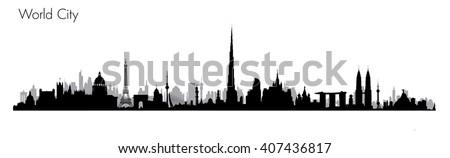 Vector World Monuments  - stock vector