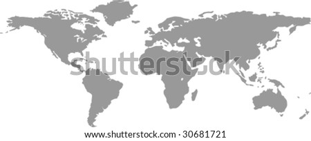 vector worldmap - stock vector
