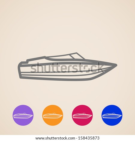 vector yacht icons - stock vector