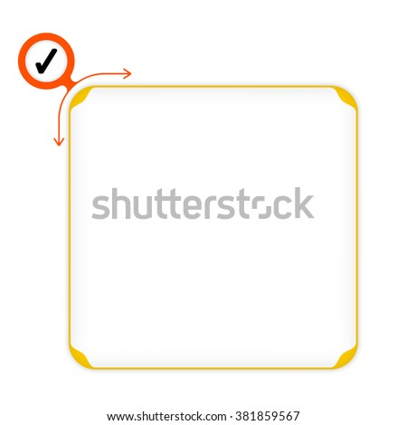 Vector yellow box to fill your text and check box - stock vector