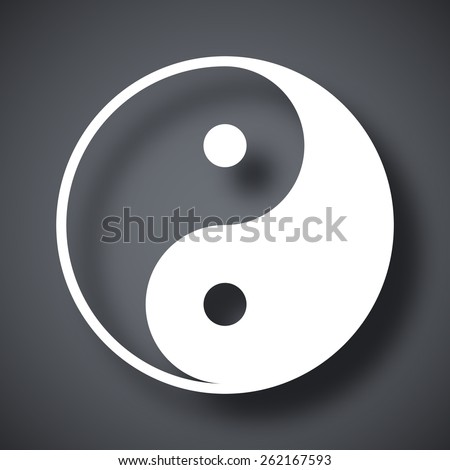 Vector yin and yang symbol - stock vector