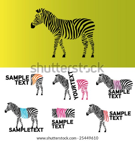 vector zebra illustration - stock vector