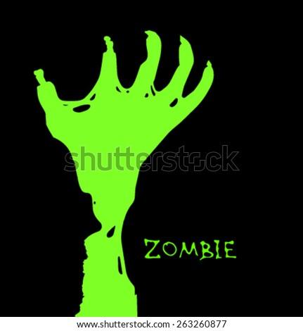 Vector zombie elemrts-05 - stock vector