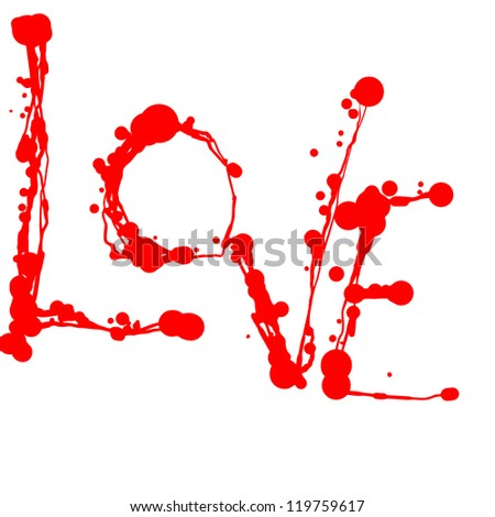 vectored love sign of blots and blobs - stock vector