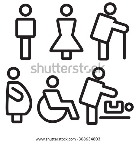 Woman Clipart Image 24058 likewise Toilet Paper likewise Stock Image Toilet Man Woman Signs Image27815491 besides Flirt Toilet Vector Sign Male Female 236396893 furthermore Universal Bathroom Design Bathroom Design. on bathroom restroom toilet wc icon