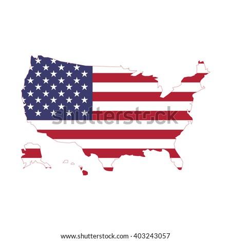 vectors map of USA  - stock vector