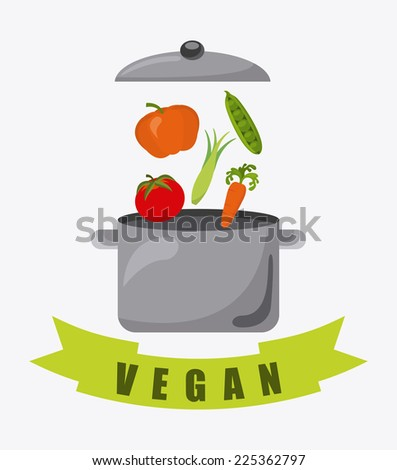 vegan food graphic design , vector illustration - stock vector