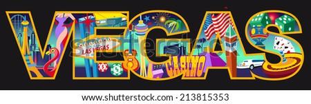 Vegas - stock vector