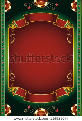 Vegas. Background with gambling elements for a poster - stock vector