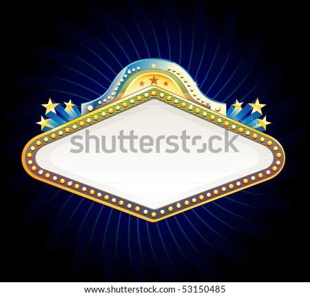 Vegas casino sign - stock vector