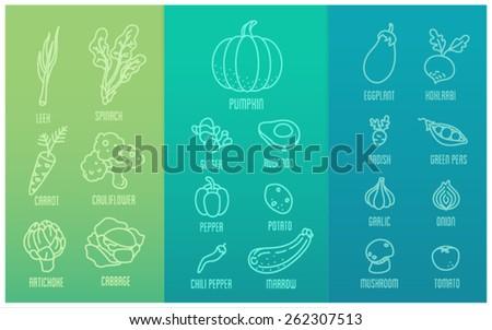 Vegetable icon  - stock vector