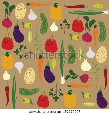 vegetable illustration - stock vector