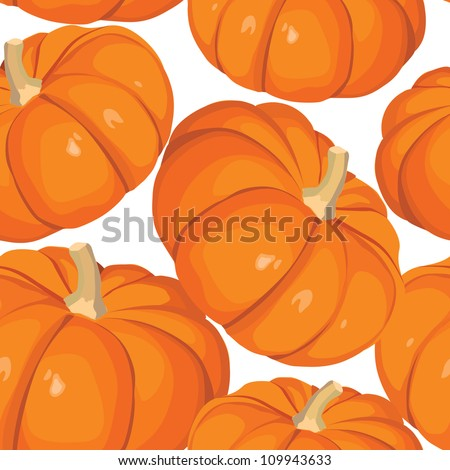 Vegetable pattern. Pumpkin seamless background. - stock vector
